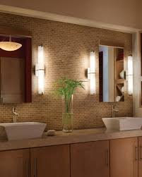 white bathroom lighting. Bathroom Lighting Design With Modern Led Vanity Large Mirror And Double White Sinks Storages Beneath Also Mosaic Wall Tile Facing Tube