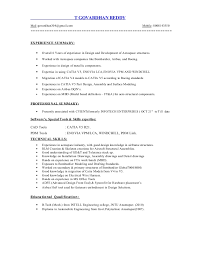 Boeing Aerospace Engineer Sample Resume Adorable CatiaV48 Experience Resume