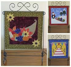 154 best Seasonal Patterns images on Pinterest | Quilt patterns ... & Mini applique quilt patterns for Thanksgiving, Christmas & Birthdays.  Fourth Seasonal Trio Quilt Pattern Adamdwight.com