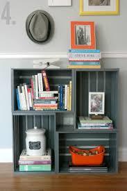 how to make a bookshelf milk crateswood