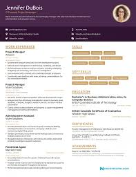 Cover Letter Project Manager Resume 2018 Example Full Guide