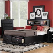 astounding small room storage bedroom ideas with black bed and red wallpaper panels also mirrored bedroomastounding striped red black striking