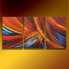 60 abstract art deco dripping paint original painting acrylic triptych 3 canvases