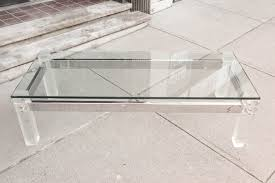 Coffee Table Lucite Coffee Table Crate And Barrel Plexiglass Surripui  Modern Clear Curved Acrylic Side Drink Furniture ...