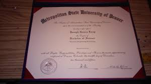josephloop diploma from denver metro state university