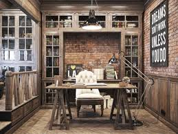 private office design. Vintage Office Design In Private Residence A