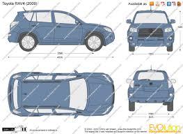 The-Blueprints.com - Vector Drawing - Toyota RAV4