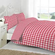 linens limited large tonal gingham duvet cover set red double cream little bear cot bed