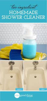 diy bathroom shower cleaner. this homemade shower and tub cleaner cuts through stubborn soap scum like nobody\u0027s business, plus diy bathroom o