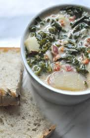 this sausage and kale soup is an olive garden zuppa toscana copycat recipe made with bacon