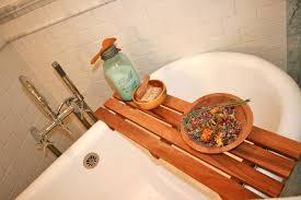 outstanding bathroom inspiration about teak bathtub caddy cute steveb interior teak bathtub caddy