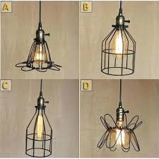 vintage style lighting fixtures. Fascinating Industrial Style Lighting 4 Wrought Iron Black Chandelier Ceiling Fixture Pendant Light With Bulb Vintage Fixtures