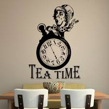 Alice In Wonderland Wall Decor Alice In Wonderland Wall Decal Quote Tea Time Quotes Wall