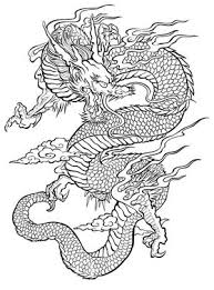 Color by number printable coloring pages for kids. Mystic Dragon Coloring Pages Favecrafts Com