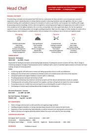 Head Chef Resume Examples ...