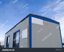 small portable office. A Small Portable Office On Wheels At Construction Site Warm Sunny Day. M