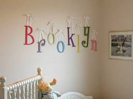 hanging wooden letters hanging wall