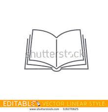 open book editable outline sketch icon
