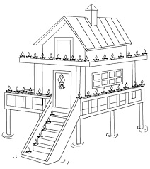 Small Picture House Coloring Pages House Coloring Pages In Cartoon Coloring