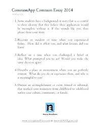 College Essays Tips Common App Essays Examples Examples Of College Essay Topics Common