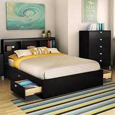 full size bed with drawers. Simple Drawers South Shore Spark Full Mates Bed Pure Black And Size Bed With Drawers W