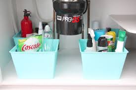 Under Kitchen Sink Organizing Organize Under The Sink Space Julie Blanner Entertaining Home