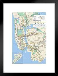 Subway Stock Price Chart Amazon Com Pyramid America New York City Subway Map Matted