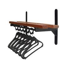 Black Coat Rack With Shelf Furniture Fascinating Wall Mounted Coat Rack With Shelf With Cool 56