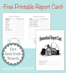 Printable Progress Reports For Elementary Students Free Printable Report Cards And Lots Of Other Great Charts