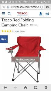 4 tesco camping chairs