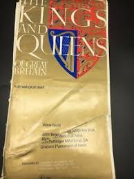 Kings And Queens Of Great Britain Chart Details About The Kings And Queens Of Great Britain A Genealogical Chart 1970 Map Poster