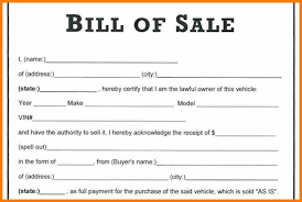 The Bill Of Sale The Necessity Of Using A Bill Of Sale Document Discuto