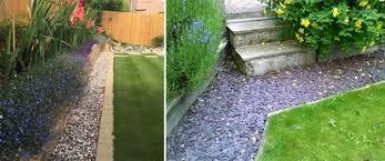 creating a low maintenance stone border