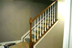 replace stair railing. Replace Stair Railing With Iron Wooden Banister Painted Ideas Beautiful Spindle Staircase Spindles Wood