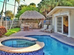 home pool tiki bar. Pompano Beach House Rental - Waterfront Home Backyard Private Pool And Jacuzzi Tiki Bar O