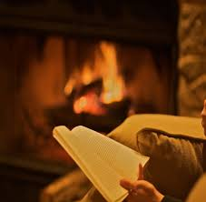 Image result for fireplace, reading