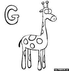 Small Picture Alphabet Online Coloring Pages Page 1