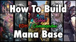 mtg how to build a 4 color edh mander mana base for magic the gathering you