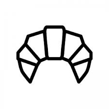 クロワッサンのシルエット 無料のaipng白黒シルエットイラスト
