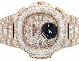 Patek 18k Ebay Diamond Philippe Gold Nautilus Mens 686908810141 5980 Rose Pave Ct Set Watch 1r 32