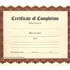 Free Printable Blank Certificate Of Completion Flyers Helloalive
