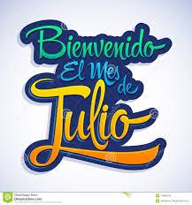 I Mes De Julio Di EL Di Bienvenido, Spagnolo Benvenuto Di Luglio Mandano Un  Sms a Illustrazione Vettoriale - Illustrazione di pianificatore, dopo:  118984228