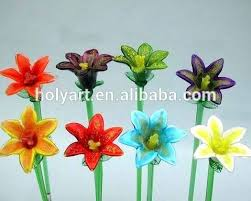 hand blown glass flowers hot high quality hand blown glass flowers solar hand blown glass