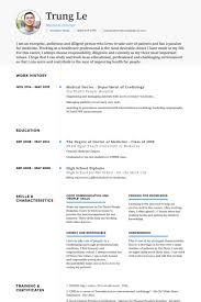 Medical Doctor In Training Resume samples