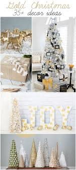 White And Gold Decor Gold Christmas Decor Ideas
