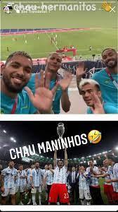 كورة اون لاين - لاعبي البرازيل يسخرون من خروج الأرجنتين من الاولمبياد رد  مارتينيز حارس الأرجنتين : الوداع ايها الاخوة الصغار 😂
