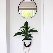 mirror kmart. kmart round hanging mirror, copper plant stand and black/white triangle cache mirror