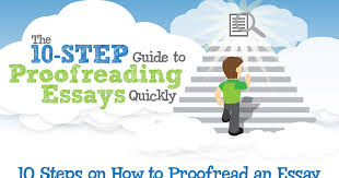essay proofread the 10 step guide to proofreading essays quickly infographic