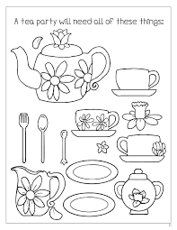 Coloring Tea Party Coloring Pages Educational Adorable Fancy Nancy