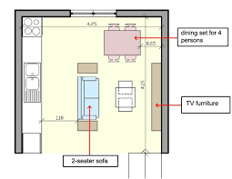 open kitchen living room floor plan. How To Arrange Furniture In A Small Open Plan Kitchen Living Room? Pros And Cons Of Design For Home. If You Are Deeply Attracted Have Room Floor I